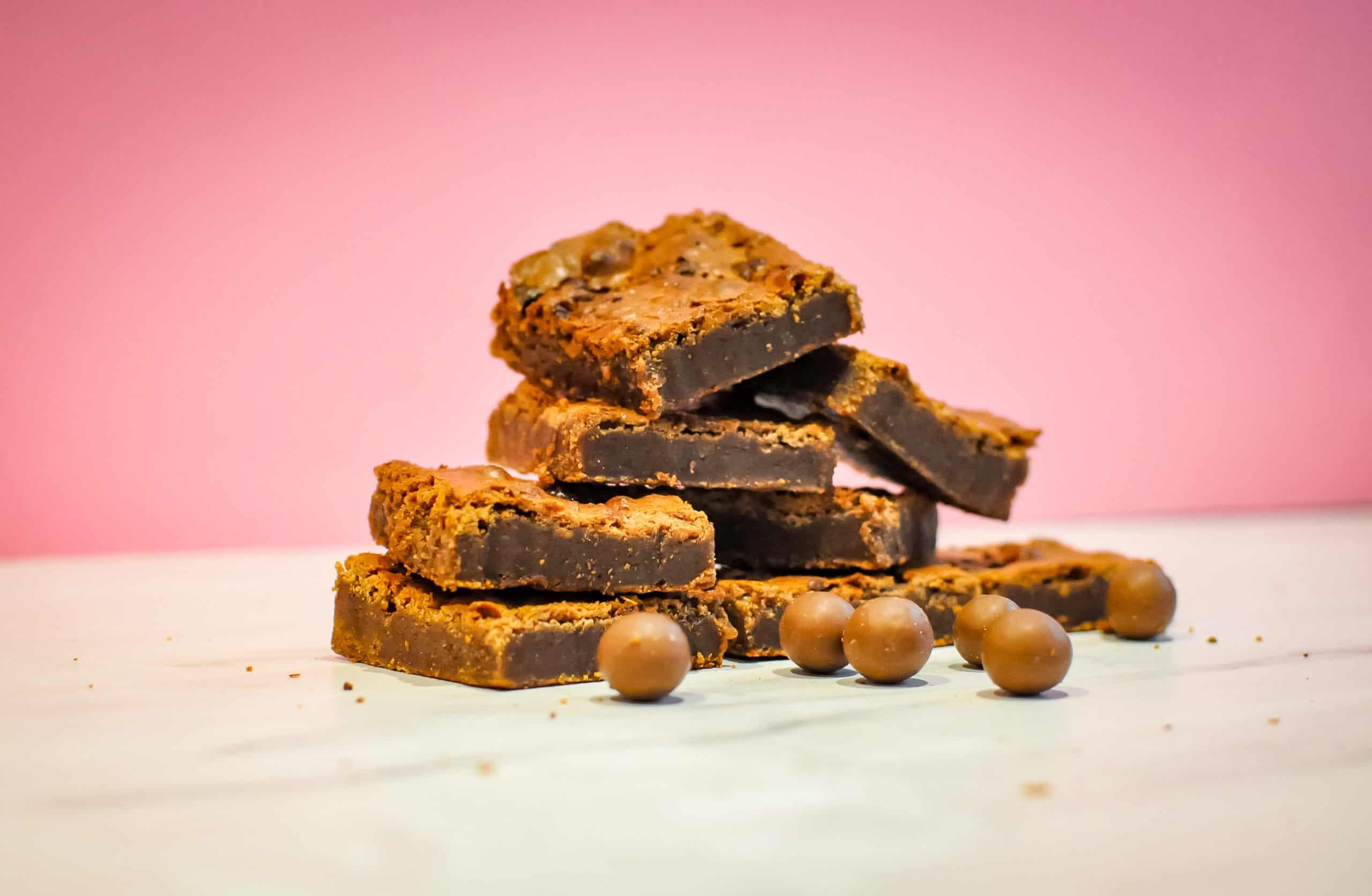 Luxury Box of Malteser Chocolate Brownies Gallery Image