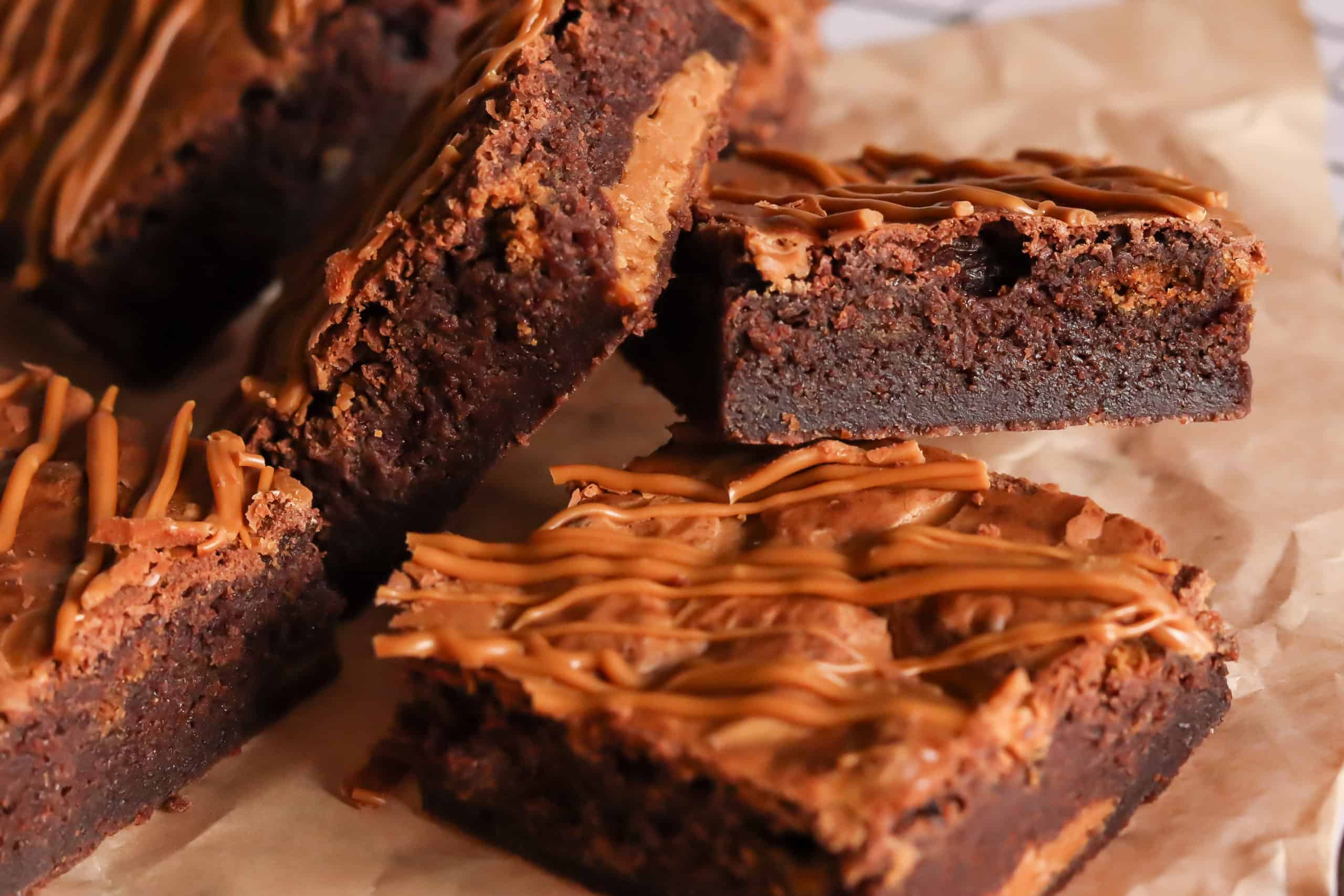 fudge biscoff brownies from Bumble and Goose