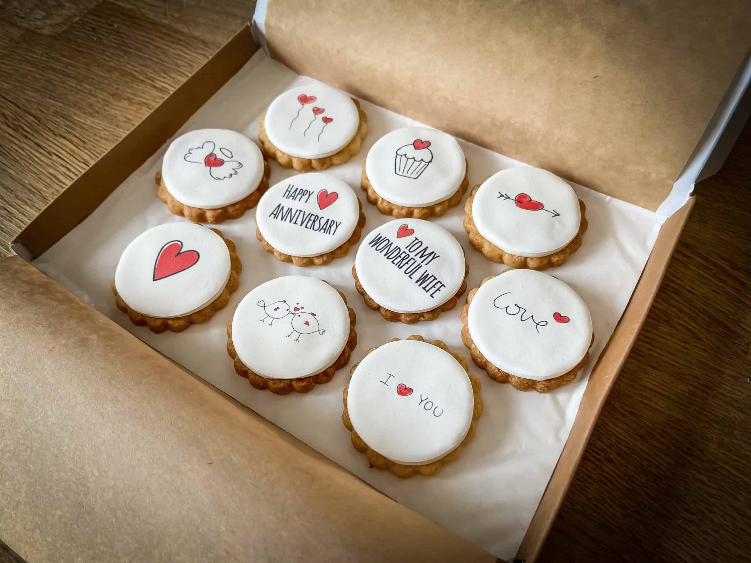 Wedding Anniversary Gift Biscuits Gallery Image