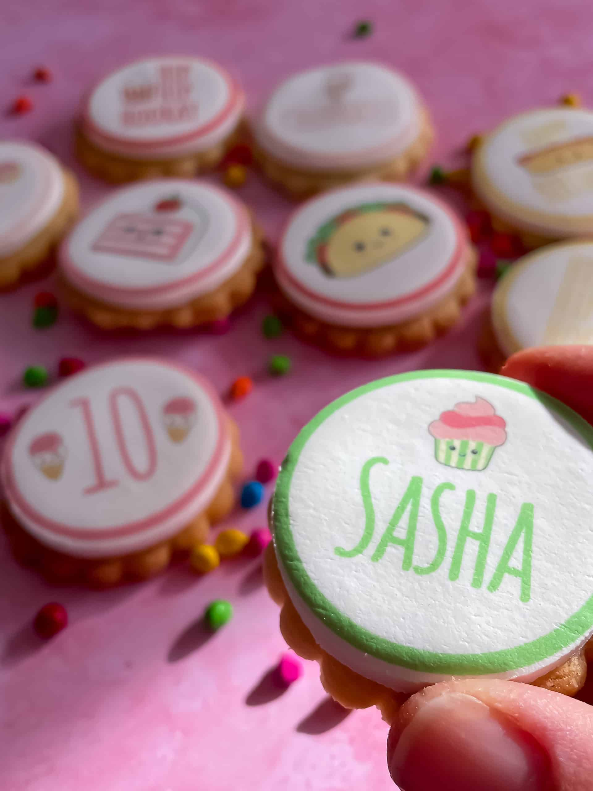 personalised biscuits for kids