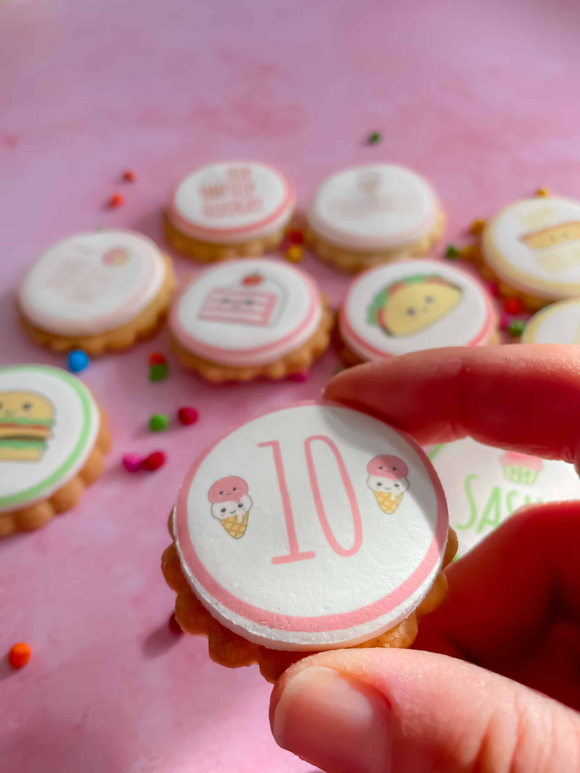 personalised birthday age biscuits
