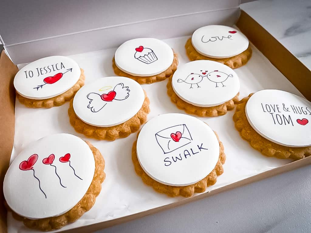 Personalised I Love you Gift Biscuits