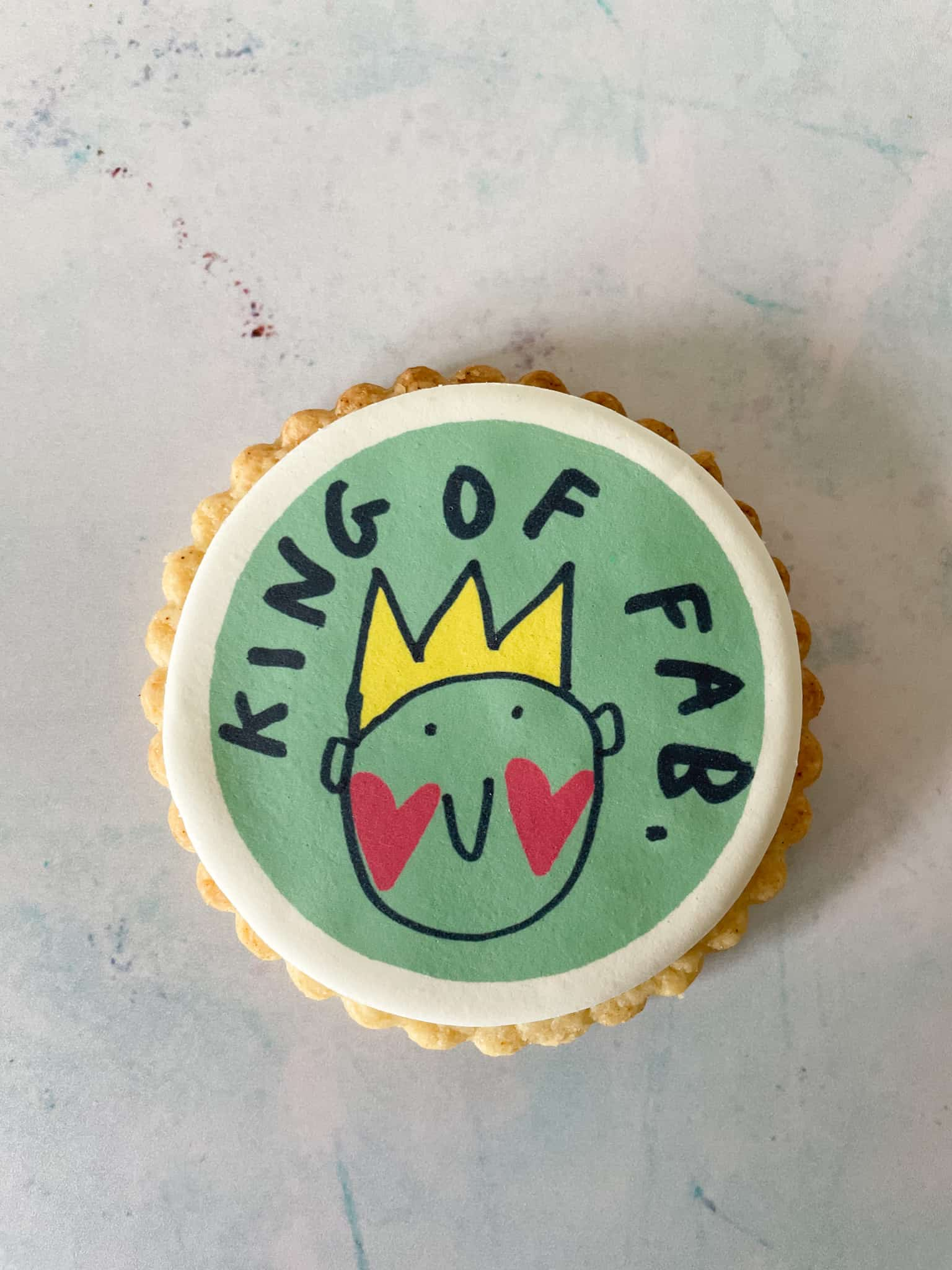 King of Fab large gift biscuit for fathers day