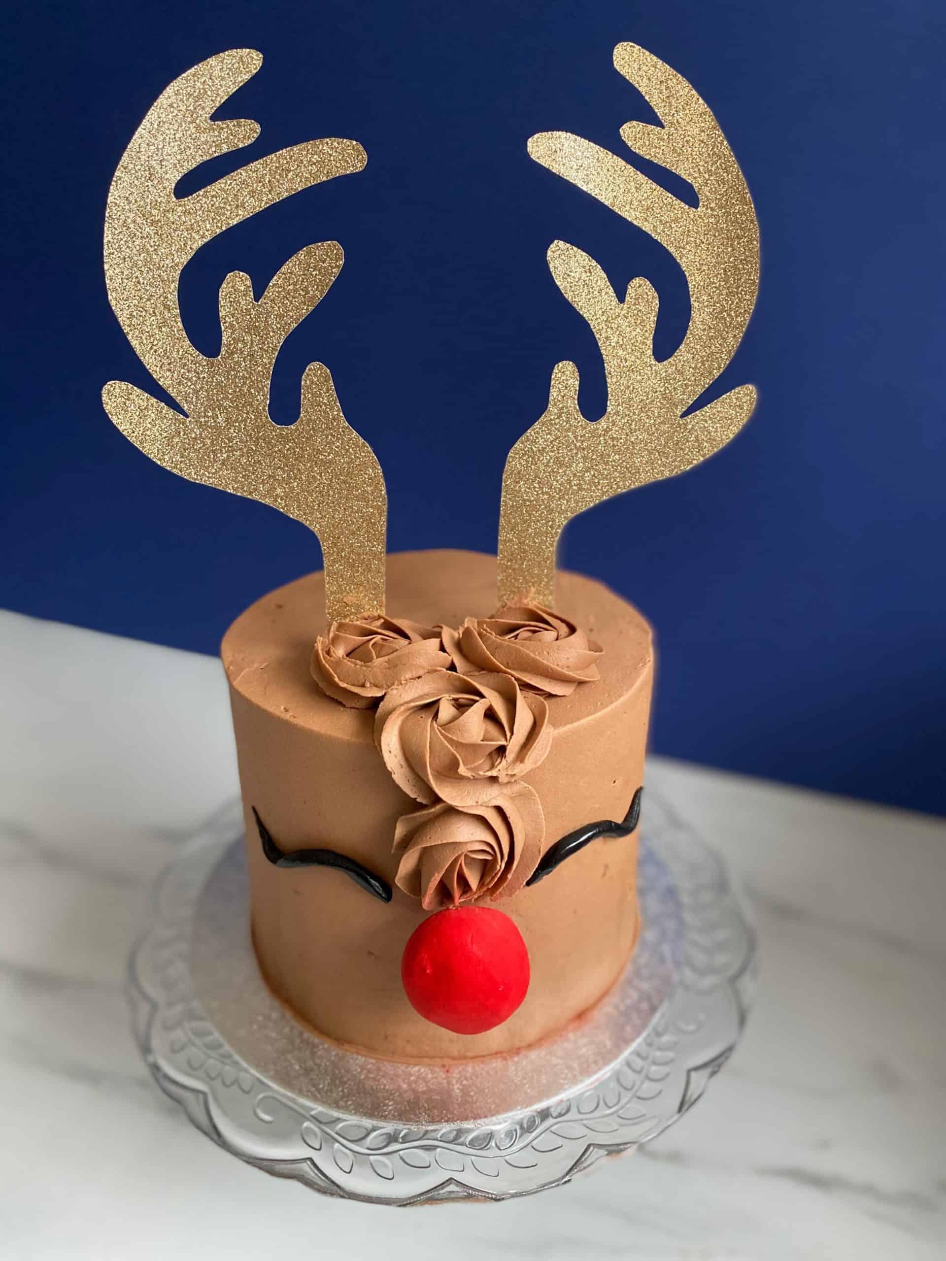 Chocolate Christmas Rudolph Cake