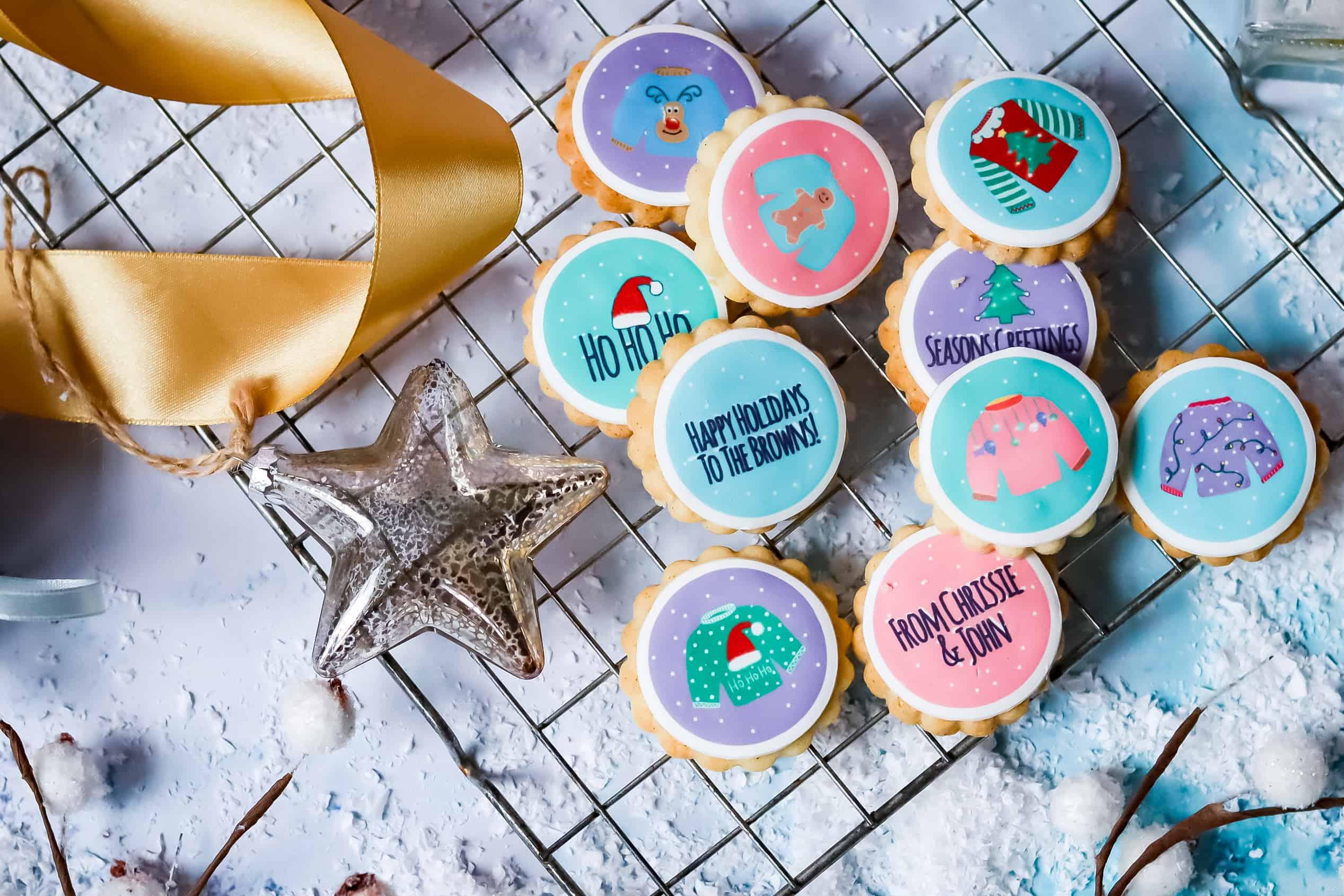 Handmade Personalised Christmas Biscuits