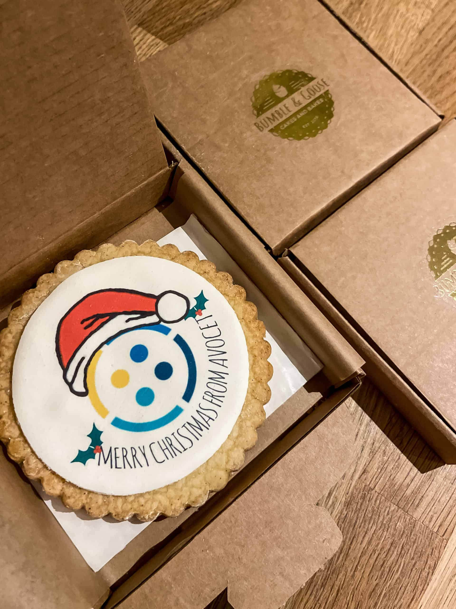 Large Christmas Biscuits with client logo