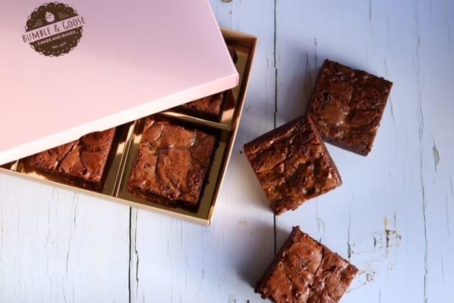Luxury Box of Salted Caramel Brownies