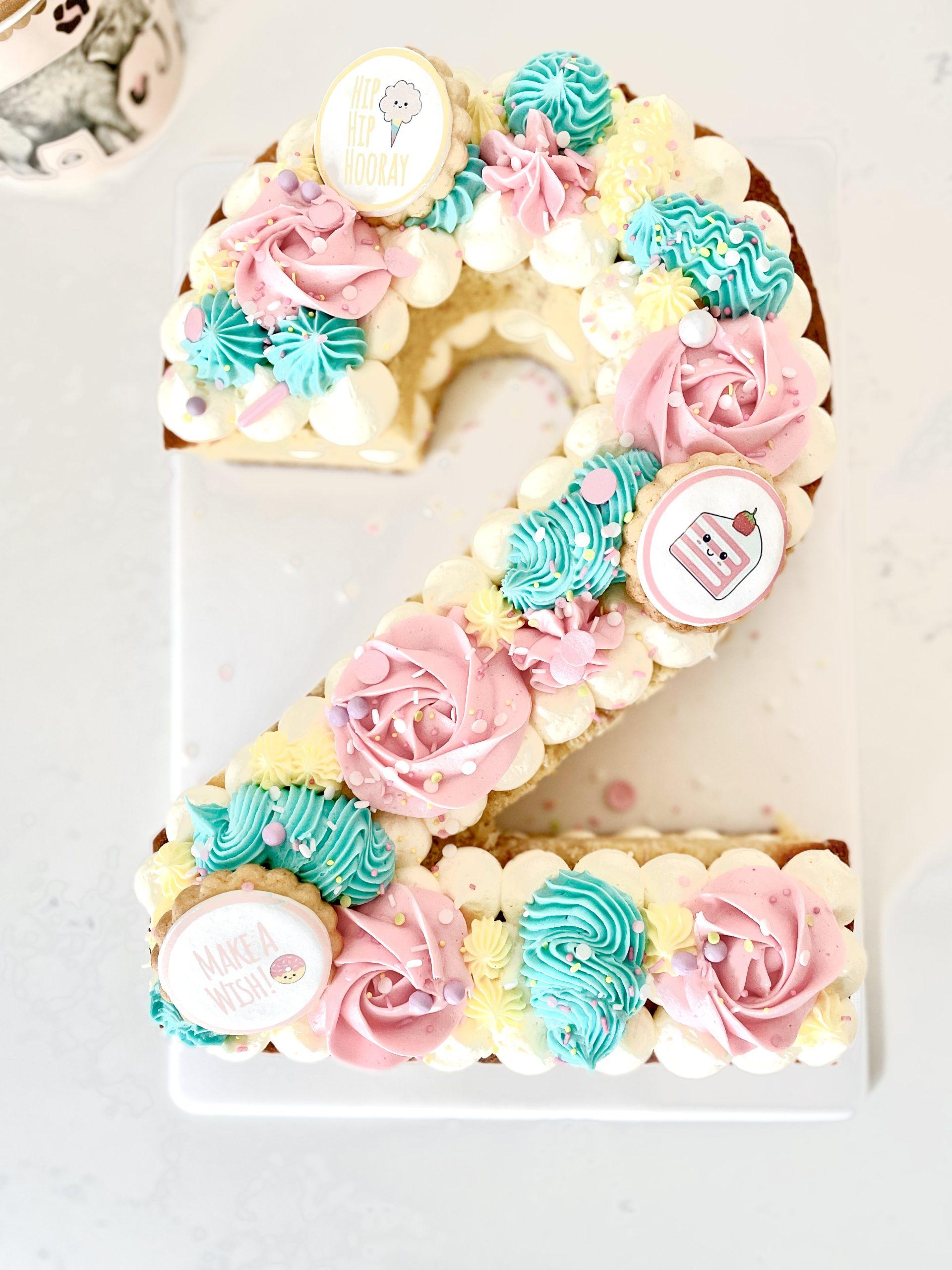 Personalised number cake