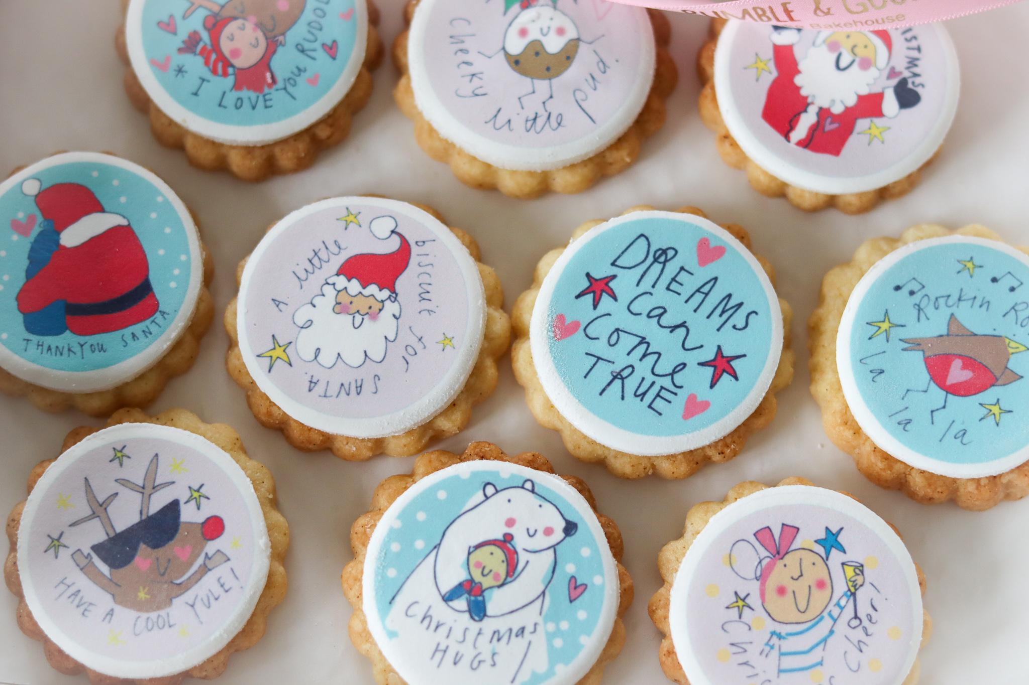 Sketchy Muma Christmas Hug Biscuits